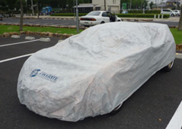 カバーライトのカバーで車体をスッポリ包み込んで車内・車外の劣化を抑える!